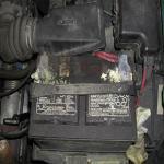 Проблемы трансмиссии, связанные с ржавчиной на контактах батареи