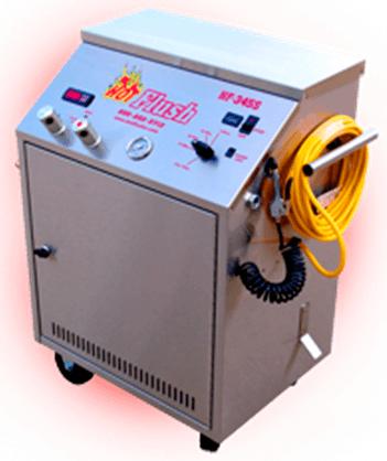 Oil change machine flushing device